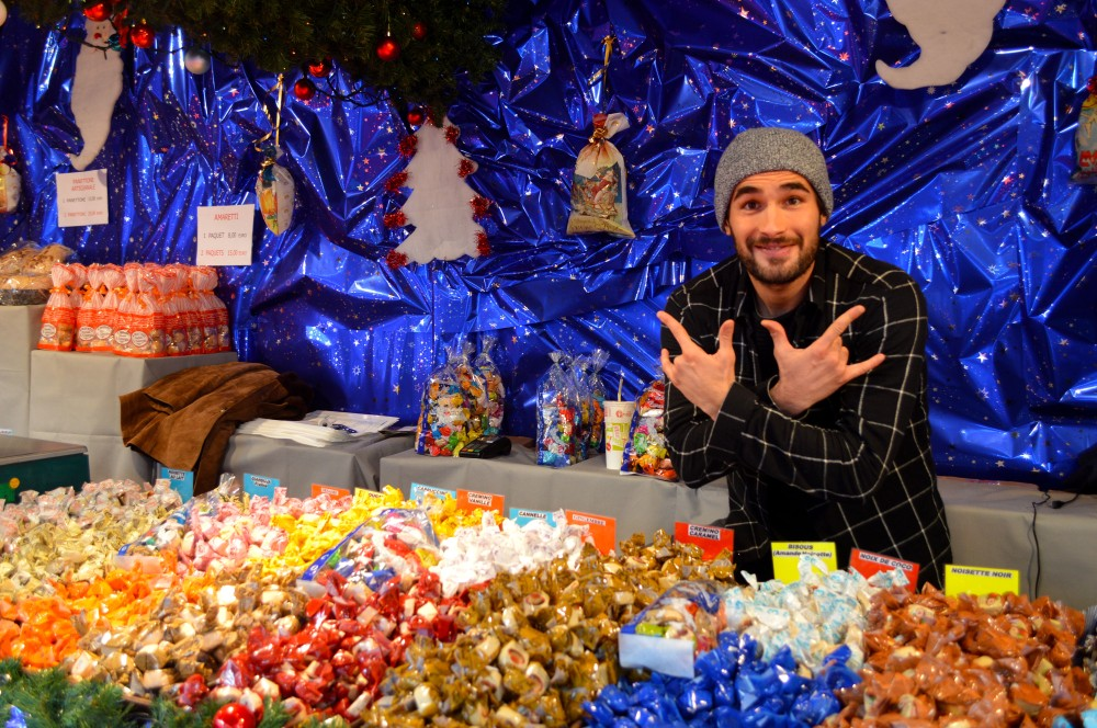 Luca, the 'really Italian' guy selling Christmas tree candies